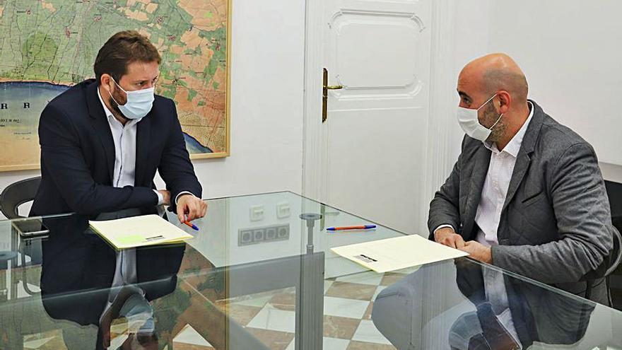 El alcalde de Bèlgida  se reúne con Campos