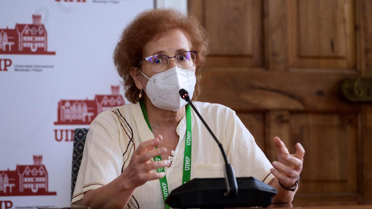 Margarita Del Val, este jueves en la UIMP de Santander.