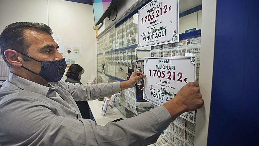 L'administració de loteria de l'estació de tren de Girona reparteix 1,7 milions