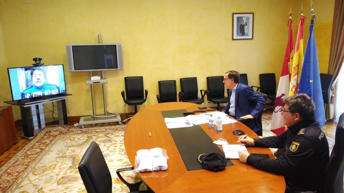 Videoconferencia de la Subdelegación del Gobierno en Zamora.