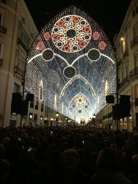 Encendido de las luces de Navidad.