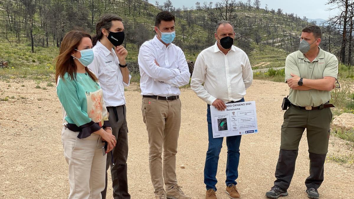 Beneixama, Hidraqua and its foundation, Fundación Aquae, present the project 'Sembrando Oxygen'