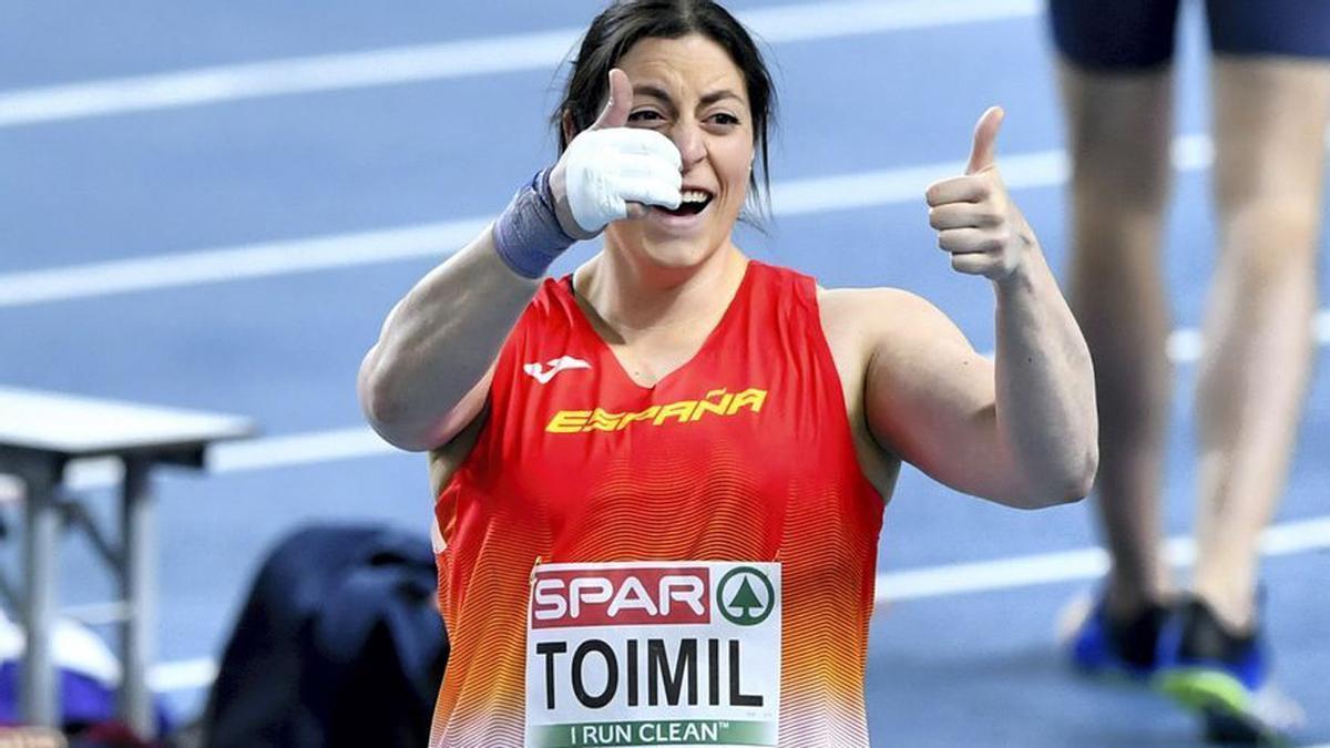 Belén Toimil, en una imagen con la selección española