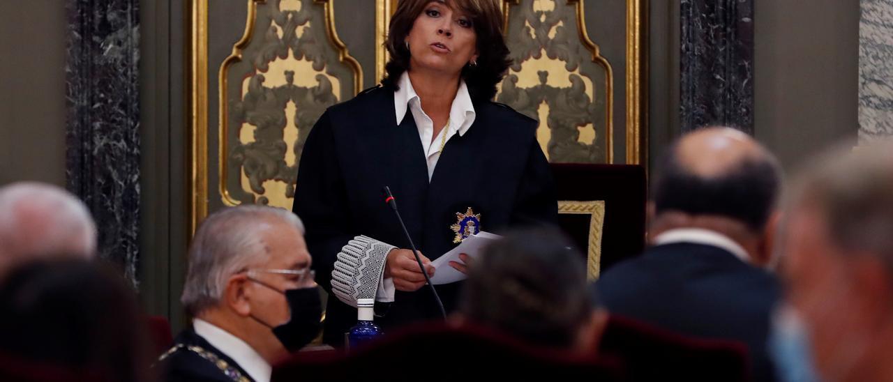 La fiscal general del Estado, Dolores Delgado,