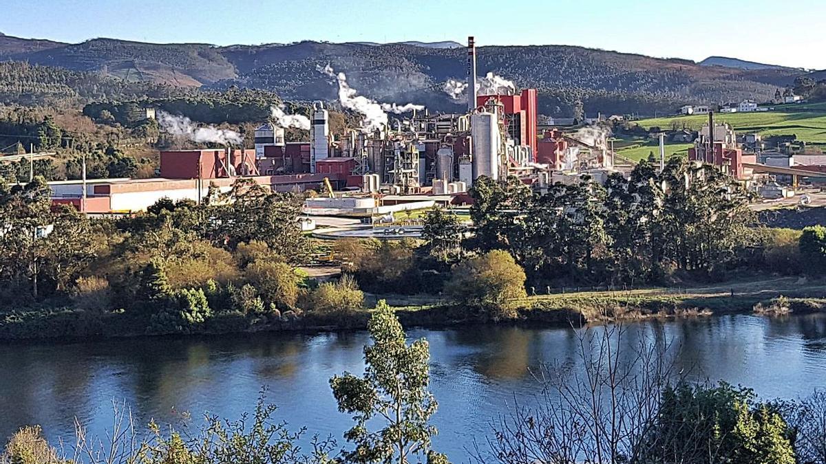 Factoría de Ence en Navia.