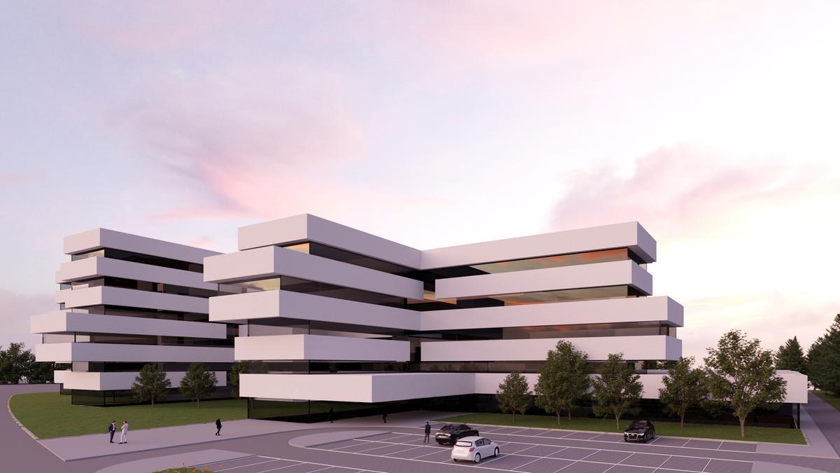 Recreación del futuro hospital privado de Quirón en Zaragoza.