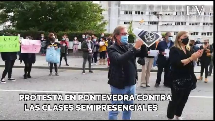 Dos institutos de Pontevedra, en pie de guerra contra las clases online