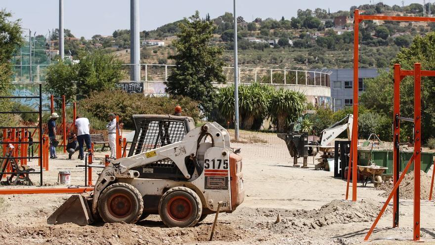 En marcha el área de calistenia del Rodeo en Cáceres