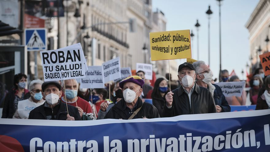 Jornada de movilizaciones en toda España contra la privatización de la sanidad