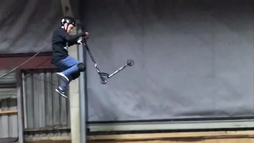 Rafa del Valle, un scooter que vola a l´Alcora