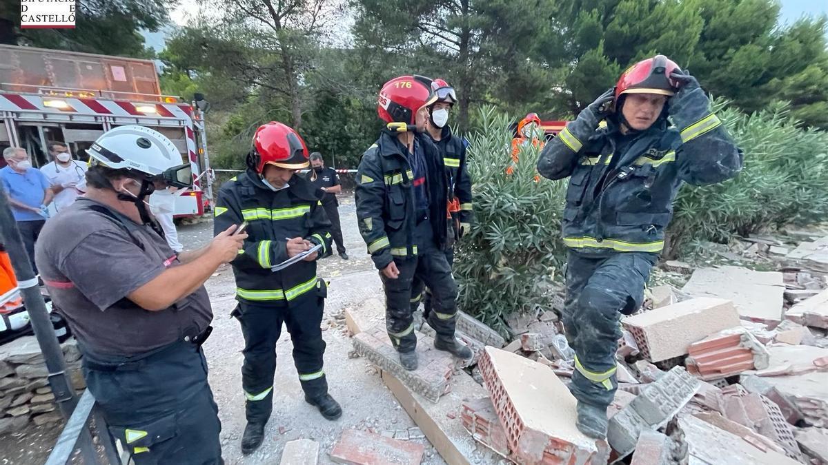 Derrumbe de un edificio de tres plantas en Peñíscola