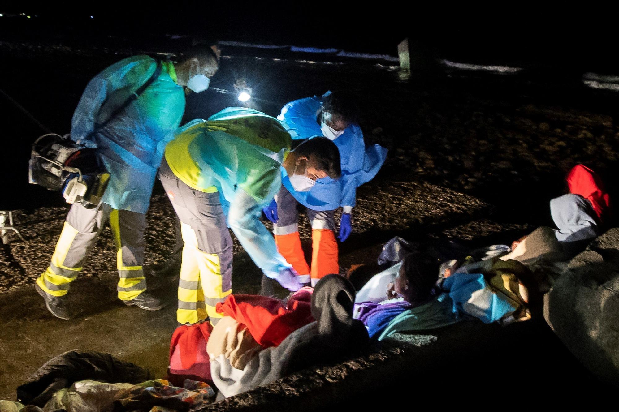 Llegada de migrantes a Castillo del Romeral (29/08/21)
