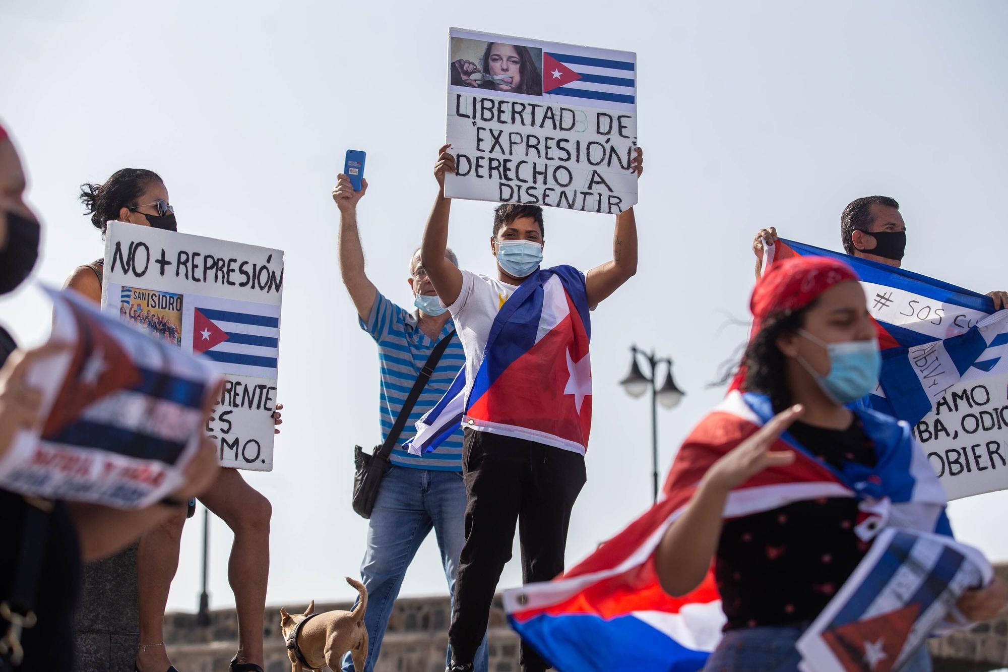 Manifestación por una Cuba libre