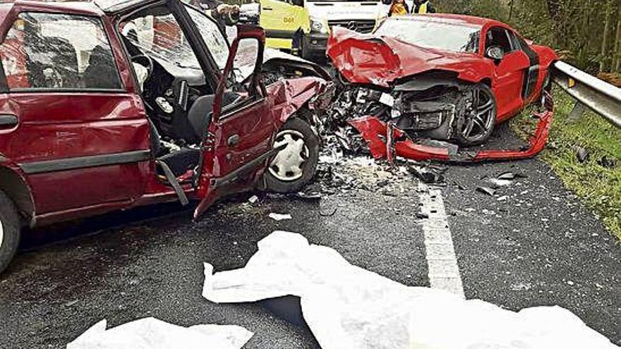 Cuatro muertos en Brión, Ponte Caldelas y Ames, en la carretera en tres horas