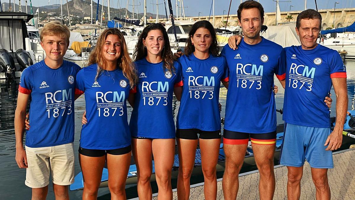 Imagen de los representantes del RC Mediterráneo que participarán en el Mundial.   LA OPINIÓN