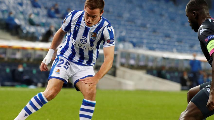 El jugador de la Real Sociedad Jon Bautista se va cedido al Leganés