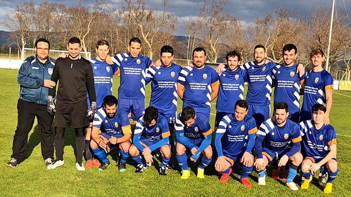 L'equip de Quarta Catalana del CE Fortià
