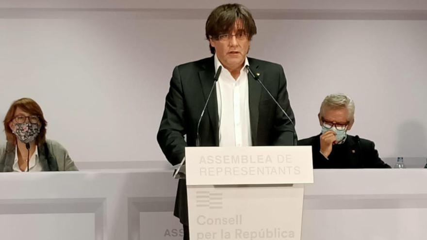 Puigdemont demana a Sánchez que «acati» la sentència de Brussel·les i alliberi «els presos polítics»