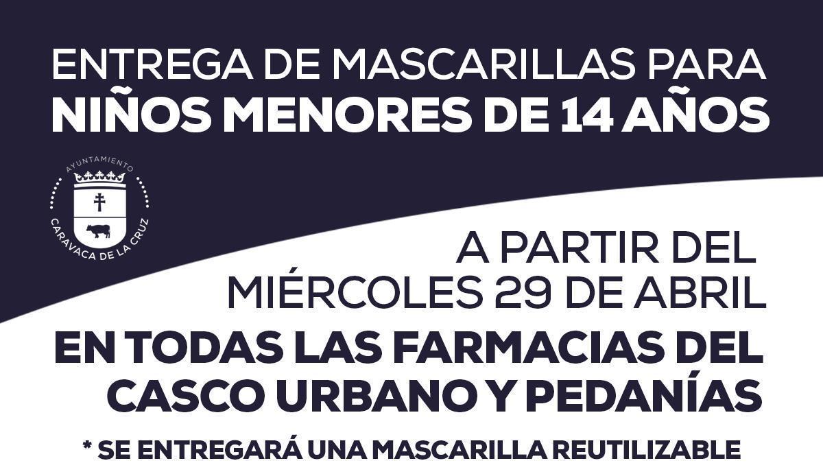 El Ayuntamiento de Caravaca repartirá mascarillas gratis a los menores de 14 años