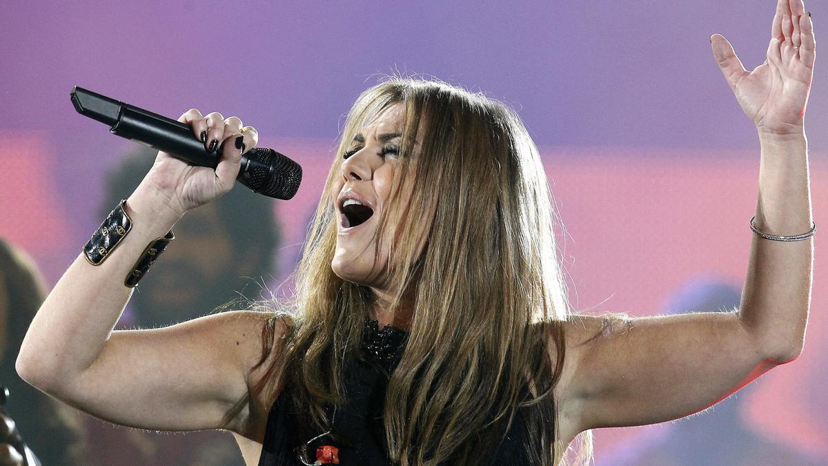 Amaia Montero durante un concierto.