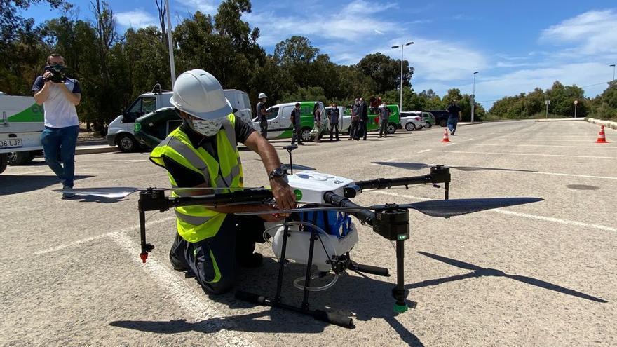 Drones contra mosquitos en Elche