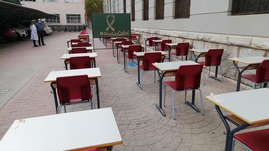 La concertada aprieta en Murcia contra la ley Celaá con 'aulas vacías'