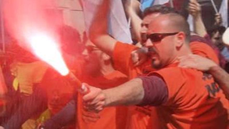 Un trabajador de la planta coruñesa de Alcoa, detenido tras altercados en la manifestación de Madrid