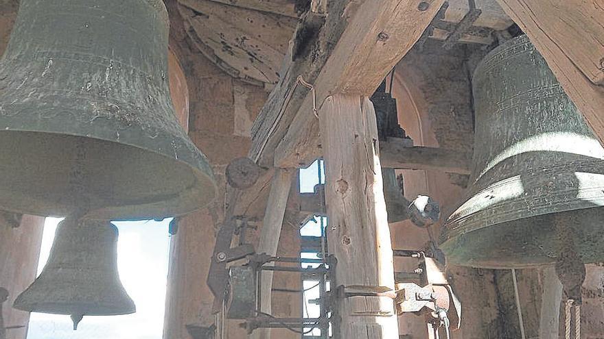 Las campanas de Porreres, estropeadas por el impacto de un rayo el pasado lunes
