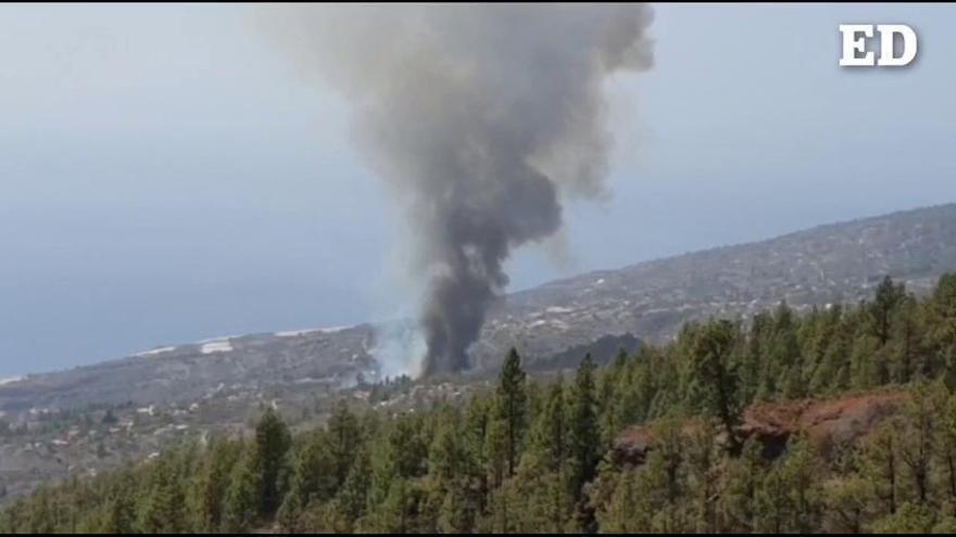 Declarado el nivel 2 en el incendio de Tijarafe