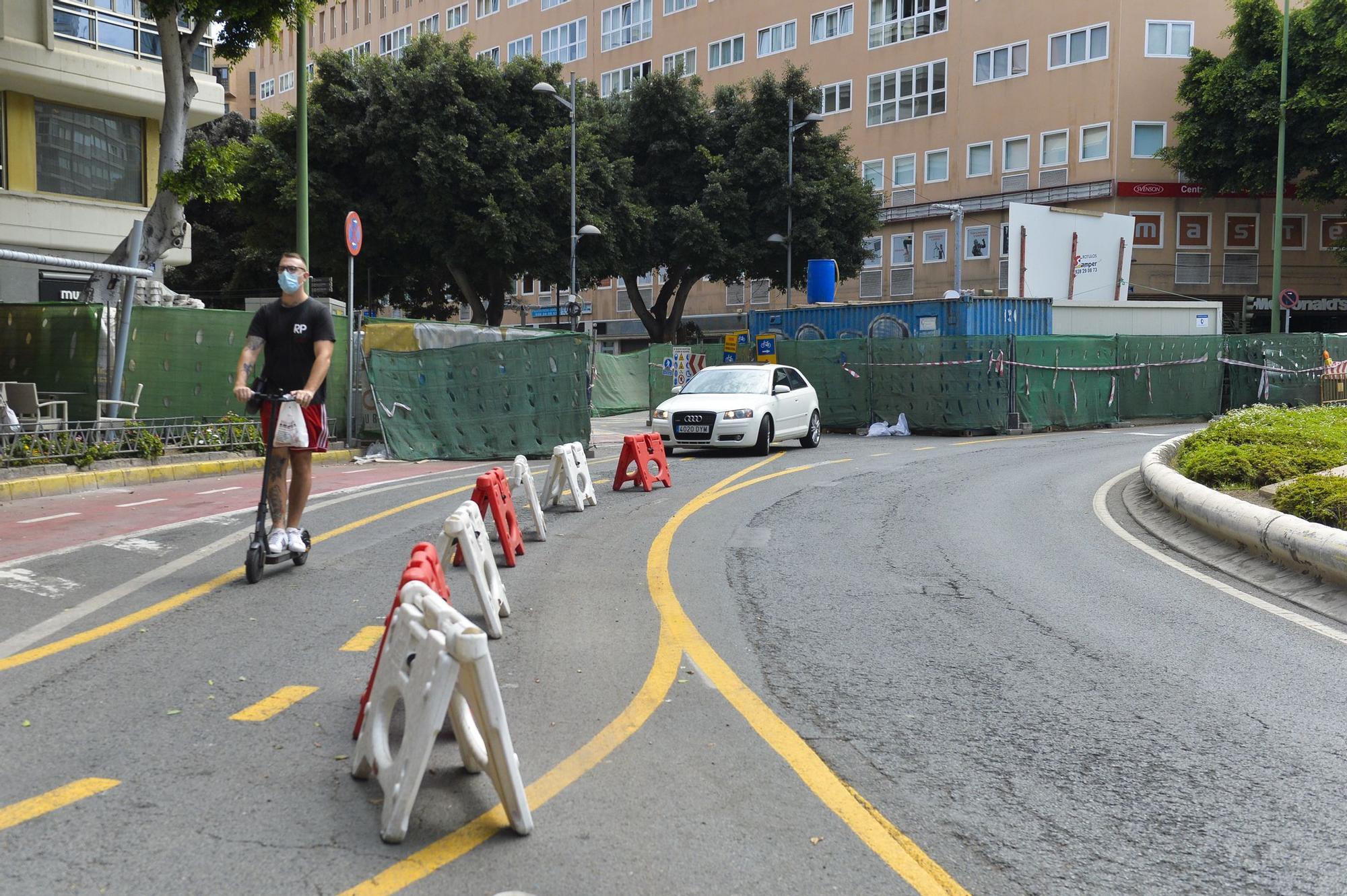Obras de peatonalización de Mesa y López