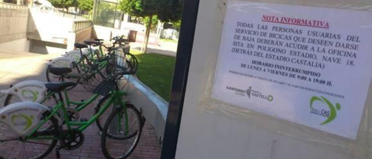 El Bicicas baja de 17.000  a 1.000 usuarios en tres  años con el sistema de pago