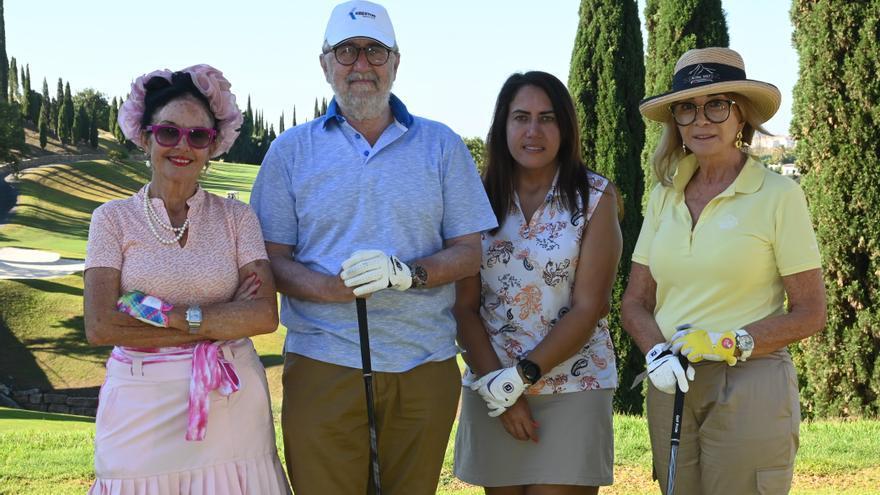 La actriz Viviane Ventura muestra su lado más solidario en el torneo de Golf de AECC en Villa Padierna