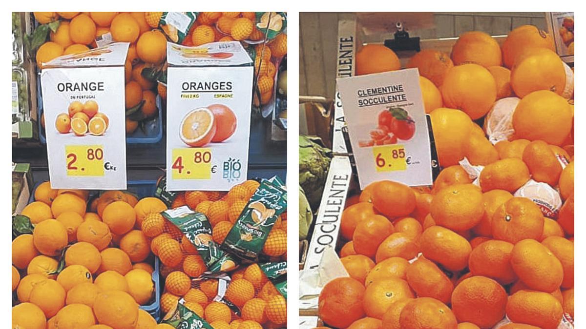 Puestos de venta de mandarinas. | LEVANTE-EMV
