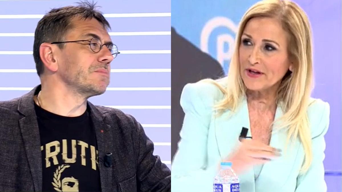 Juan Carlos Monedero and Cristina Cifuentes.