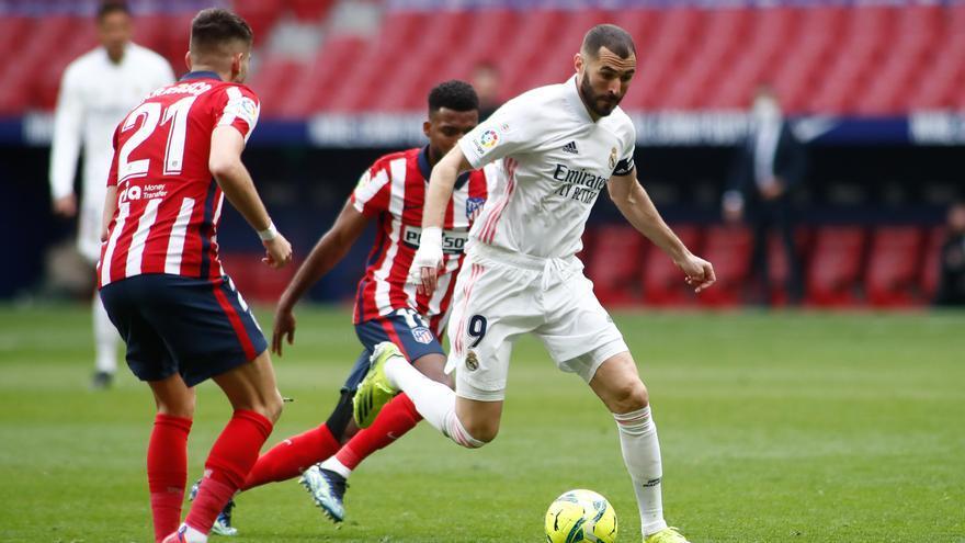 Benzema empata el encuentro ante el Atlético en el minuto 88.
