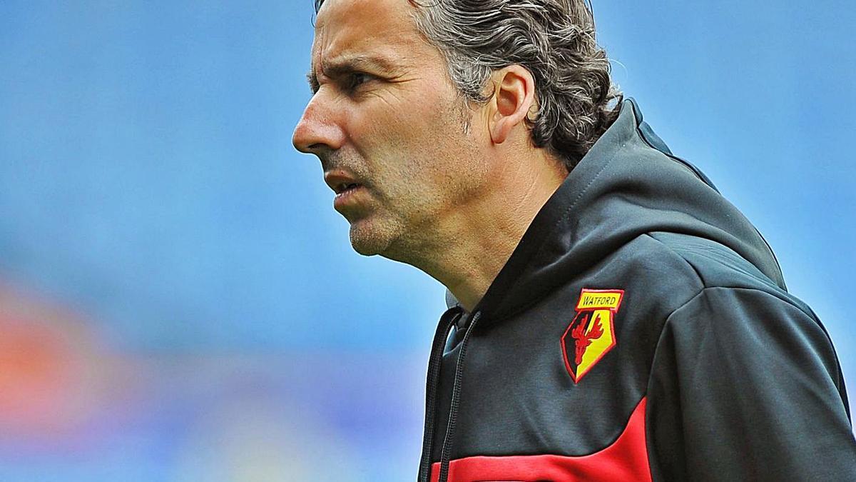 Javier Pereira, en su etapa en el Watford, con el que ascendió a Premier.   EFE