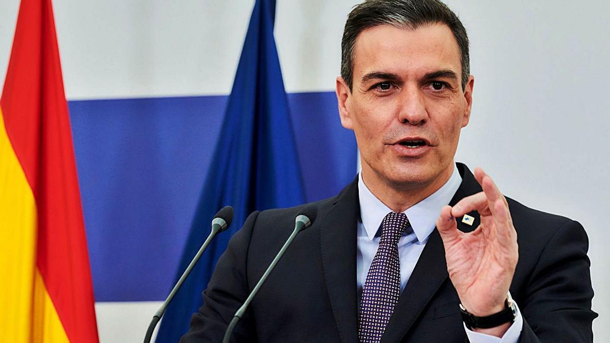 Pedro Sánchez va apostar per l'«entesa» i la «convivència». | EFE