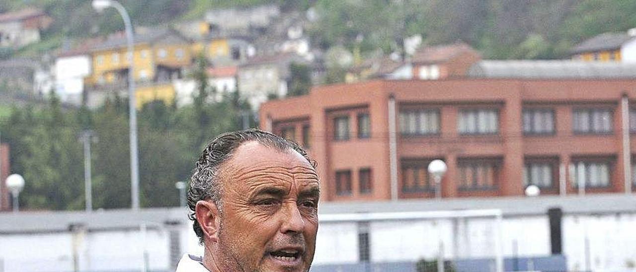 Josu Uribe, durante su etapa en el Caudal.