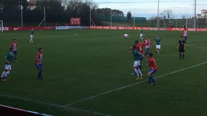 El Sporting B vence al Leioa y se aferra al liderato