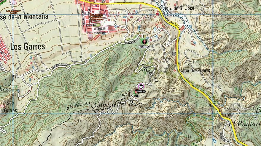 Herido grave un ciclista tras sufrir una caída en la Sierra de la Cresta del Gallo