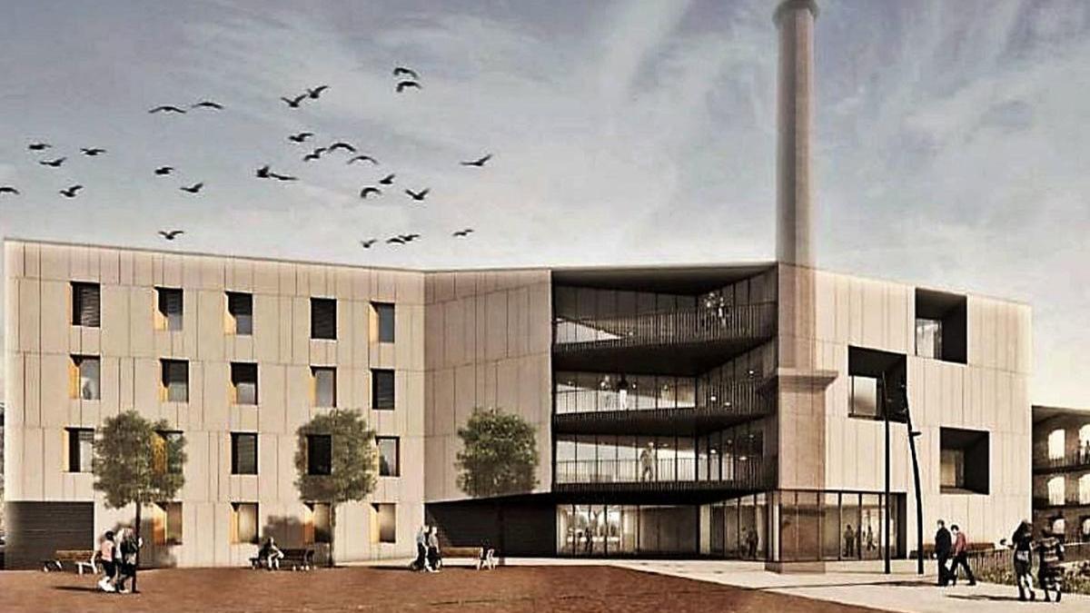 Imatge virtual de la futura nova residència per a gent gran de Sallent