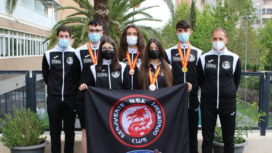 Cuatro metales para el Club Taekwondo Benavente en la Copa de España Júnor y Cadete 2021