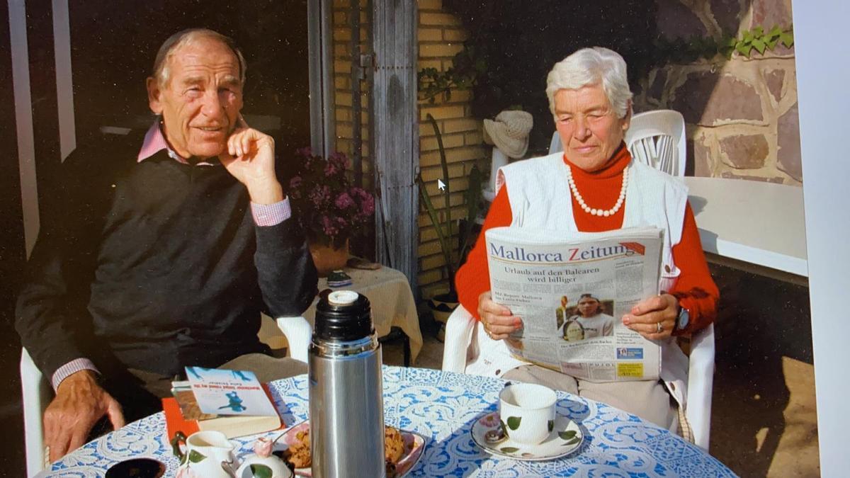 Bernd Trautmann und seine Frau Marlies im Jahr 2004