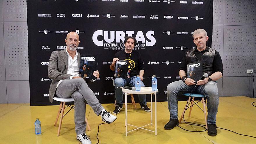 Pasqual Ferry, Salvador Larroca y Miguel Anxo Prado, hoy en Curtas