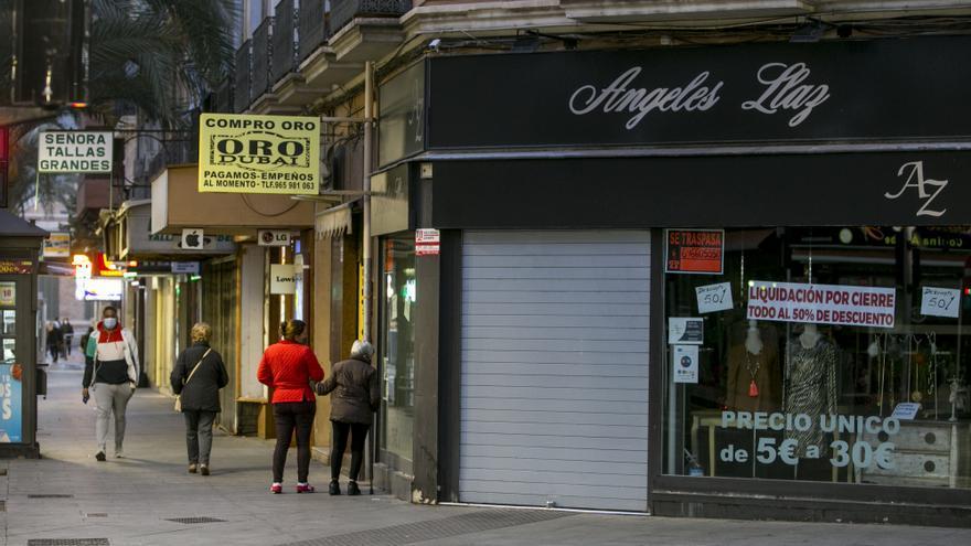 Profundo malestar en el pequeño comercio de Alicante al quedar fuera del plan Resiste