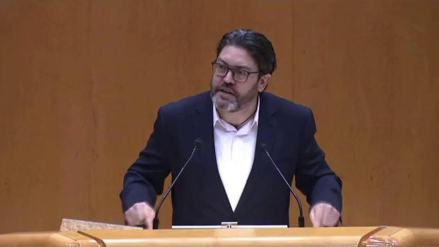 Intervención de Miguel Sánchez en el Senado antes de aprobarse la reforma del Estatuto de la Región