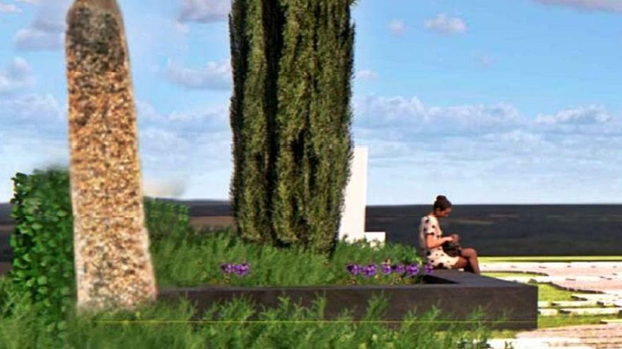 Proyecto de la Escuela de Arte de Zamora: Piedra resaltada en verde