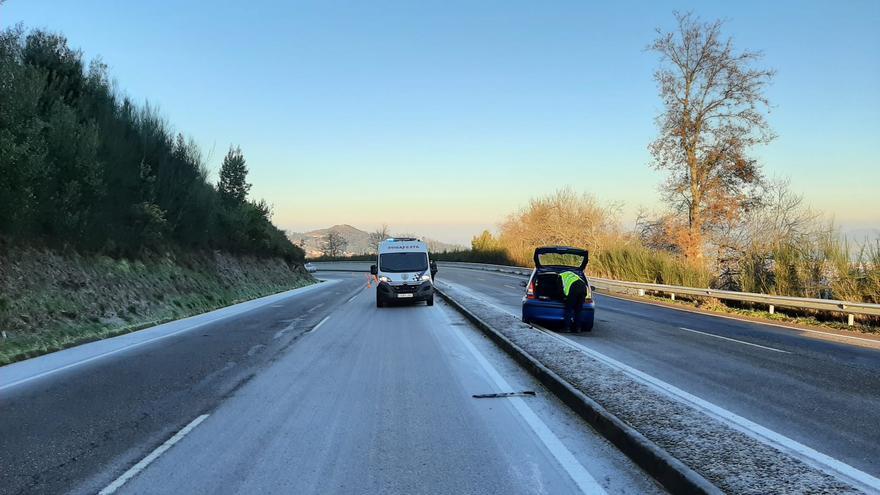 Helada en Vigo: la ciudad amanece como una pista de patinaje