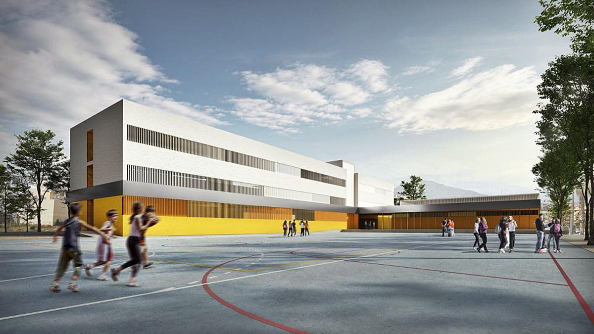 Recreación del futuro instituto que la Junta construye en la zona sur de San Pedro.   L. O.