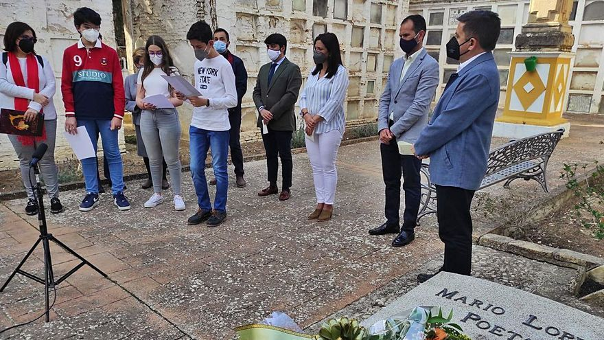 Homenaje a Mario López en Bujalance en el aniversario de su muerte